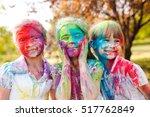 cute european child girls... | Shutterstock . vector #517762849
