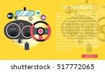 car dashboard conceptual banner | Shutterstock .eps vector #517772065