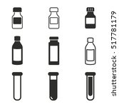 medicine bottle vector icons... | Shutterstock .eps vector #517781179