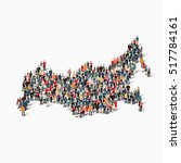 people map country russia  | Shutterstock . vector #517784161