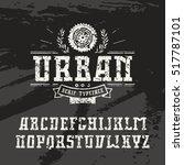 rectangular serif font in urban ... | Shutterstock .eps vector #517787101