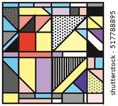 trendy geometric elements... | Shutterstock .eps vector #517788895