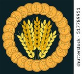 ears of wheat in terms of gold... | Shutterstock . vector #517789951