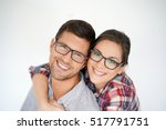 portrait of middle aged couple... | Shutterstock . vector #517791751