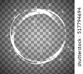 shiny circle frame on... | Shutterstock .eps vector #517794694
