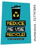Reduce Reuse Recycle  Flat...