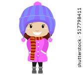 vector illustration of little... | Shutterstock .eps vector #517798411