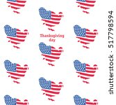turkey pattern painted in color ... | Shutterstock .eps vector #517798594