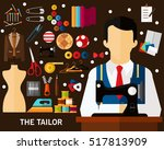 the tailor concept background....   Shutterstock .eps vector #517813909