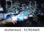 businessman using global... | Shutterstock . vector #517814665