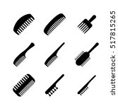 set of hair comb icons in... | Shutterstock .eps vector #517815265