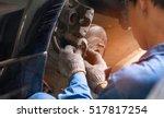 selective focus disc brake on... | Shutterstock . vector #517817254