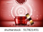 pomegranate cream ads ... | Shutterstock .eps vector #517821451