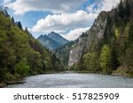 mountain river in summer with... | Shutterstock . vector #517825909