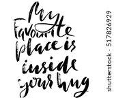 hand drawn black lettering... | Shutterstock .eps vector #517826929
