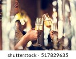 restaurant chilling out classy... | Shutterstock . vector #517829635