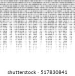virtual computer binary code... | Shutterstock . vector #517830841