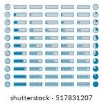 progress bars  preloaders .... | Shutterstock . vector #517831207