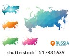 set of vector polygonal russia... | Shutterstock .eps vector #517831639
