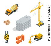 best isometric construction... | Shutterstock .eps vector #517832119