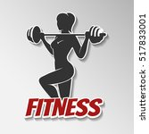 gym or fitness club emblem... | Shutterstock .eps vector #517833001