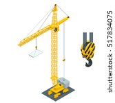 big industrial crane. isometric ... | Shutterstock .eps vector #517834075