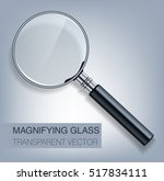 vector magnifying glass with... | Shutterstock .eps vector #517834111