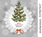 christmas vector background... | Shutterstock .eps vector #517837417
