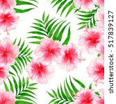 tropical pattern with...   Shutterstock . vector #517839127