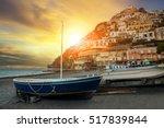 beautiful scenic of positano... | Shutterstock . vector #517839844