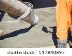 concrete pouring during... | Shutterstock . vector #517840897