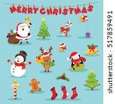 christmas set | Shutterstock .eps vector #517859491