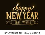happy new year for happy... | Shutterstock .eps vector #517865545