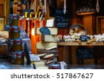 variety of cheese on display in ... | Shutterstock . vector #517867627