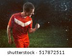 soccer player celebrates | Shutterstock . vector #517872511