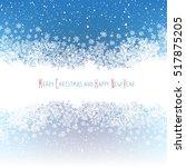 christmas border silhouette.... | Shutterstock .eps vector #517875205
