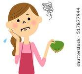 the short of money female of... | Shutterstock .eps vector #517877944