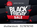 black friday sale banner | Shutterstock .eps vector #517878745