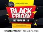 black friday sale banner | Shutterstock .eps vector #517878751