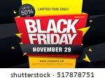 black friday sale banner   Shutterstock .eps vector #517878751