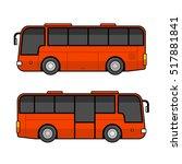 red bus template set on white...   Shutterstock .eps vector #517881841
