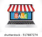 big sale   e commerce concept | Shutterstock .eps vector #517887274