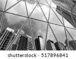 mirrored office buildings ... | Shutterstock . vector #517896841