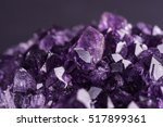 amethyst geode on black... | Shutterstock . vector #517899361