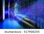 abstract image light traces.... | Shutterstock . vector #517900255