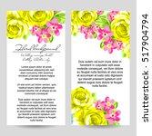 vintage delicate invitation... | Shutterstock .eps vector #517904794