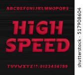 high speed alphabet font.... | Shutterstock .eps vector #517908604