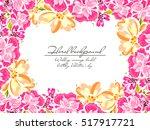 romantic invitation. wedding ... | Shutterstock .eps vector #517917721