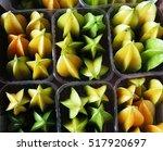carambola starfruit  | Shutterstock . vector #517920697