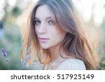 portrait of beautiful girl with ...   Shutterstock . vector #517925149